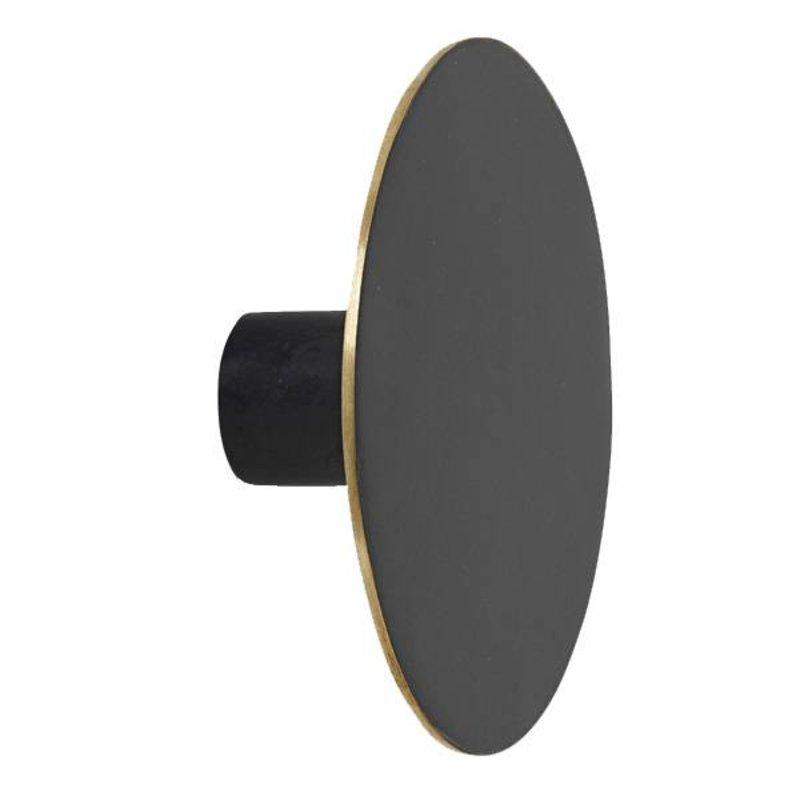 ferm LIVING-collectie Wandhaak zwart brass 7cm