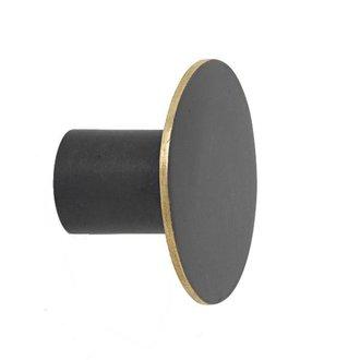 ferm LIVING Wandhaak zwart brass 4cm