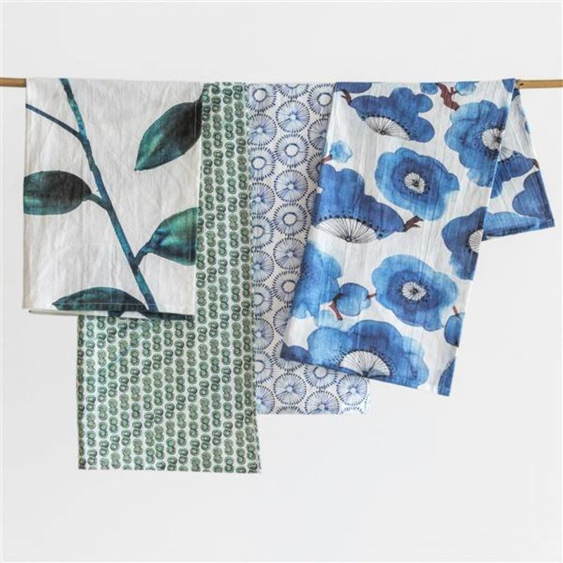 Urban Nature Culture-collectie tea towel set Leafs XL