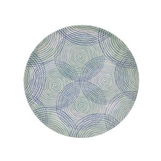 Urban Nature Culture plate bamboo Colourful circles