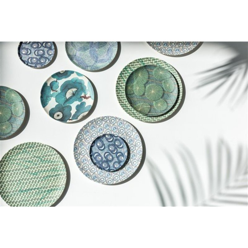 Urban Nature Culture-collectie plate bamboo Colourful circles
