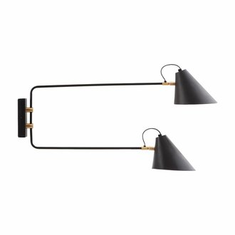 House Doctor Wall lamp, Club Double, Black/White