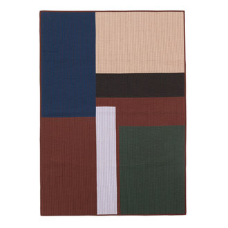 ferm LIVING Shay Patchwork Quilt Blanket - Cinnamon