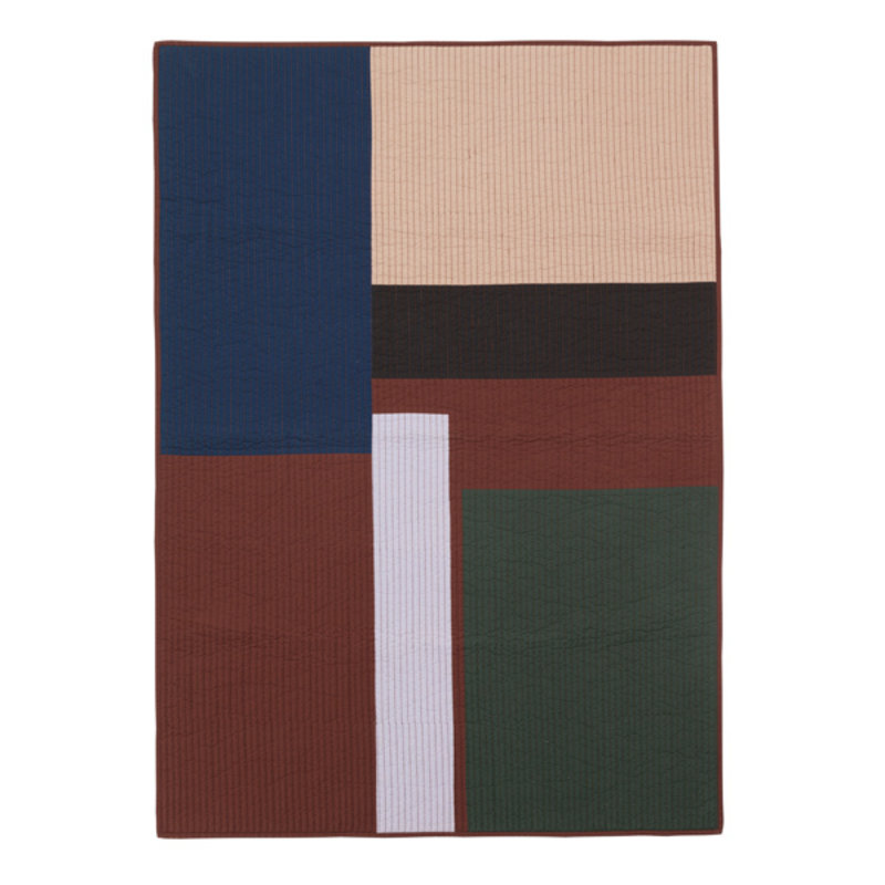 ferm LIVING-collectie Shay Patchwork Quilt Blanket - Cinnamon