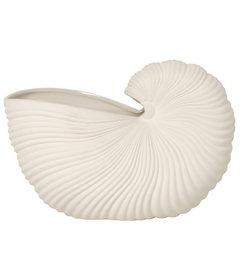 ferm LIVING-collectie Schelp pot off white