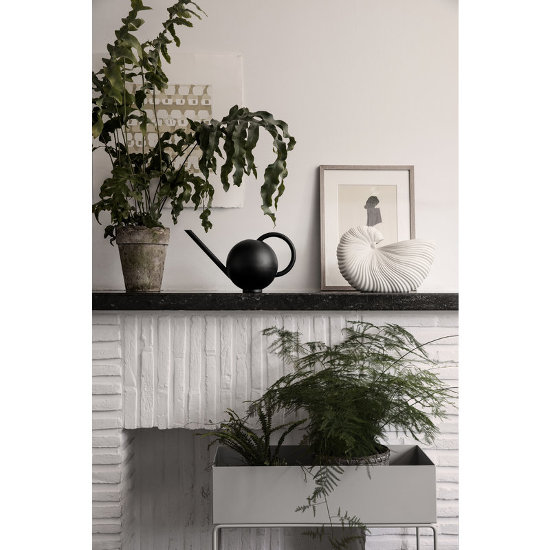 ferm LIVING-collectie Schelp pot off white
