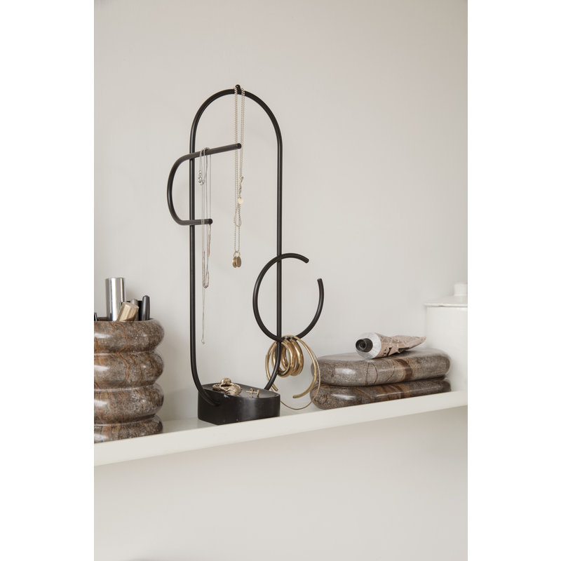 ferm LIVING-collectie Obu Jewellery Stand - Black