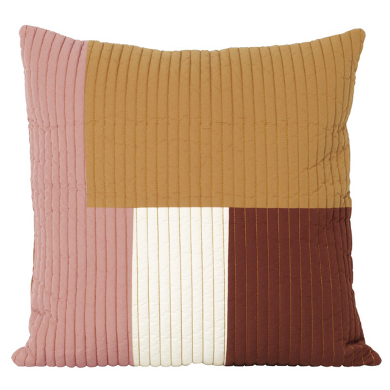 ferm LIVING-collectie Shay Quilt Cushion 50 x 50 - Mustard
