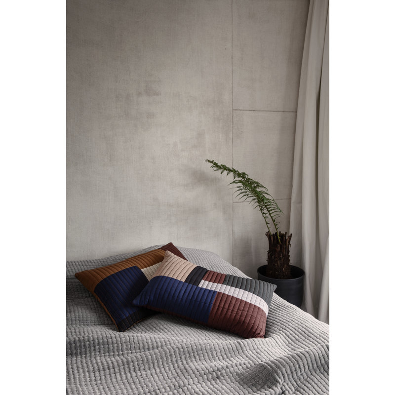 ferm LIVING-collectie Shay Quilt Cushion 60 x 40 - Cinnamon