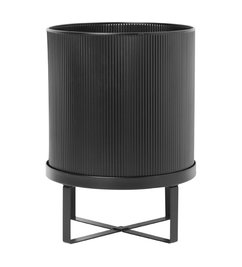 ferm LIVING-collectie Bloempot bau zwart (dia 28cm)
