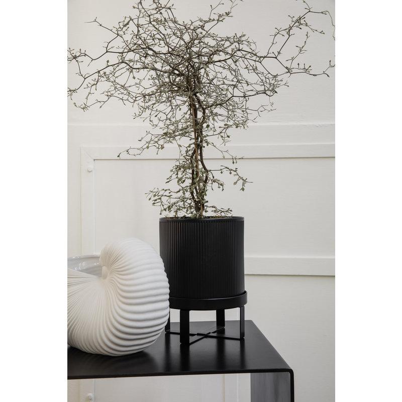 ferm LIVING-collectie ferm LIVING Bloempot Bau zwart ( dia 18cm)