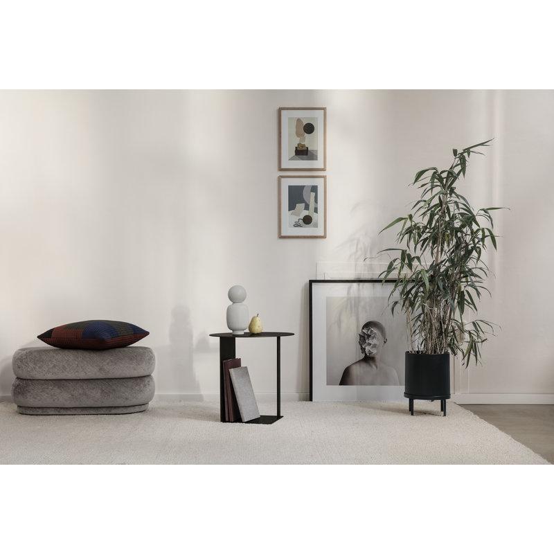 ferm LIVING-collectie Bloempot Bau zwart ( dia 18cm)