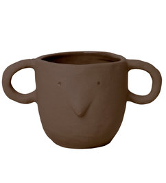 ferm LIVING-collectie Mus Plant Pot Small - Red Brown