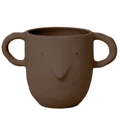 ferm LIVING-collectie Mus Plant Pot Large - Red Brown
