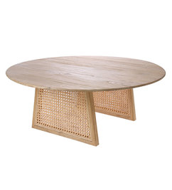 HK living-collectie webbing salontafel  naturel 80cm