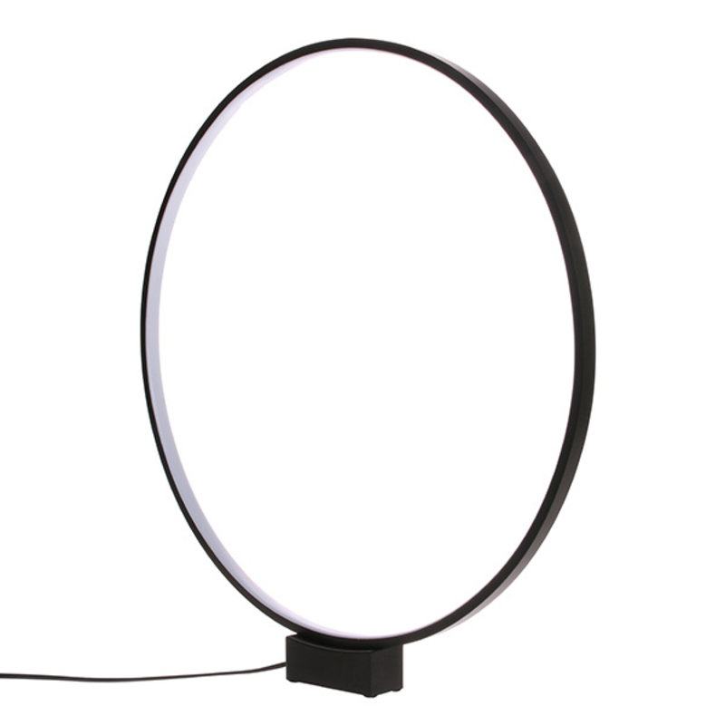 HKliving-collectie luminous circle table lamp  black