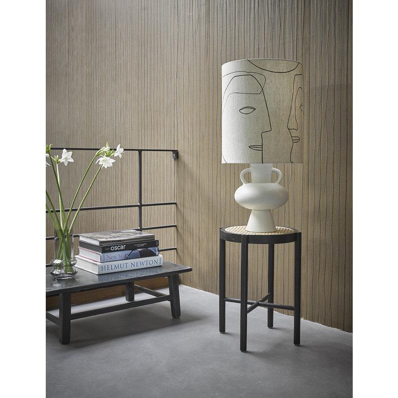 HK living-collectie Lampenvoet aardewerk off white 38cm