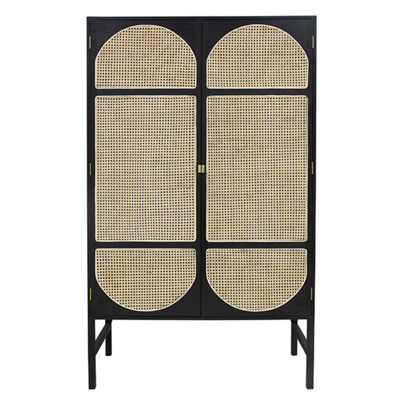 HK living-collectie retro webbing cabinet black