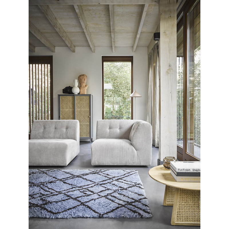 HKliving-collectie woolen berber rug grey/blue (180x280)