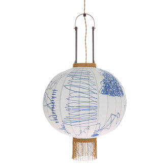 HK living Hanglamp traditionele lantaarn pencil 51cm
