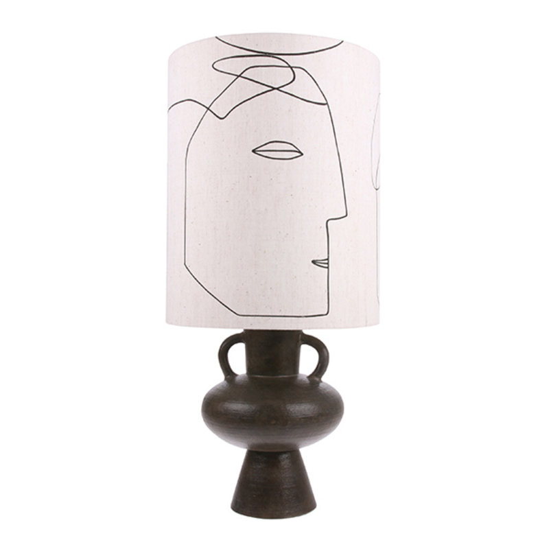 HKliving-collectie printed faces lampshade L