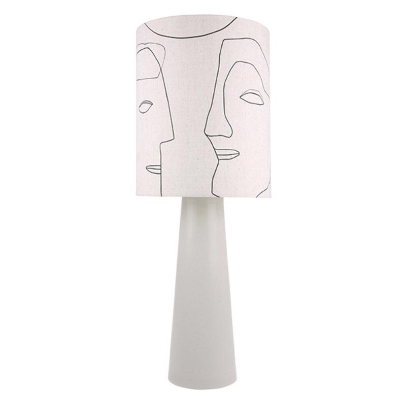 HK living-collectie Lampenkap gezichten print