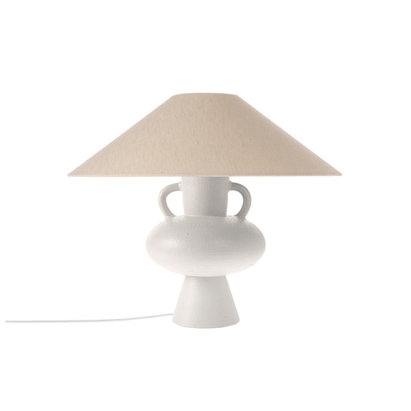 HK living-collectie triangle lampshade ivory jute