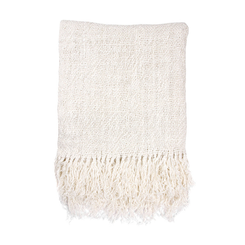 HKliving-collectie linen throw bleached (130x170)