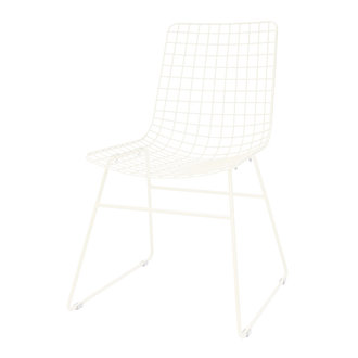 HK living metal wire chair crème