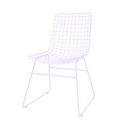 HK living-collectie metal wire chair lilac