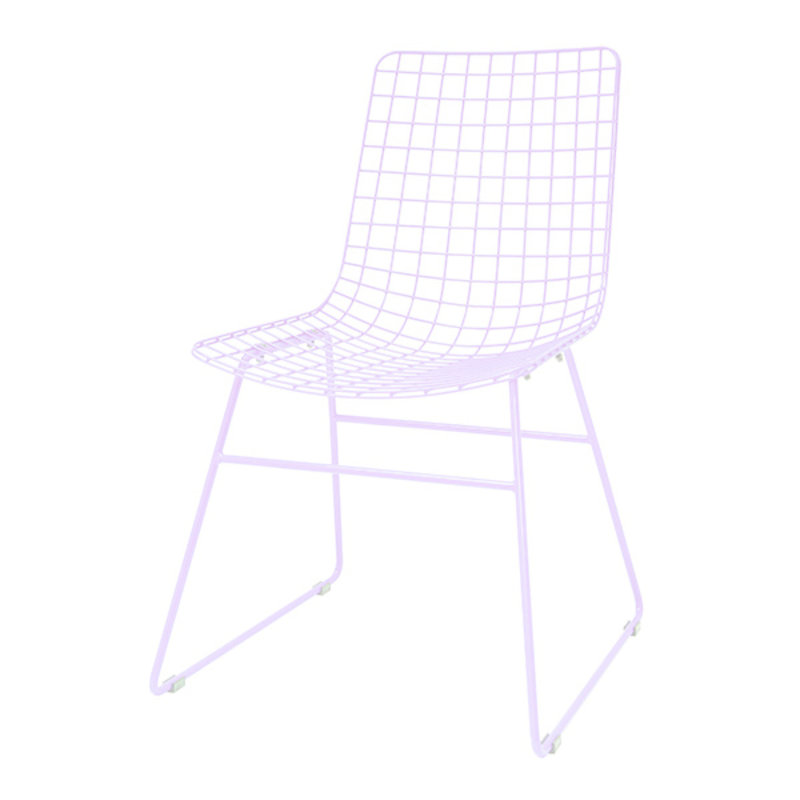 HKliving-collectie metal wire chair lilac
