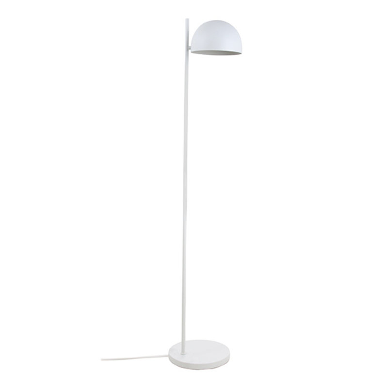 HKliving-collectie metal floor lamp ball shade matt white