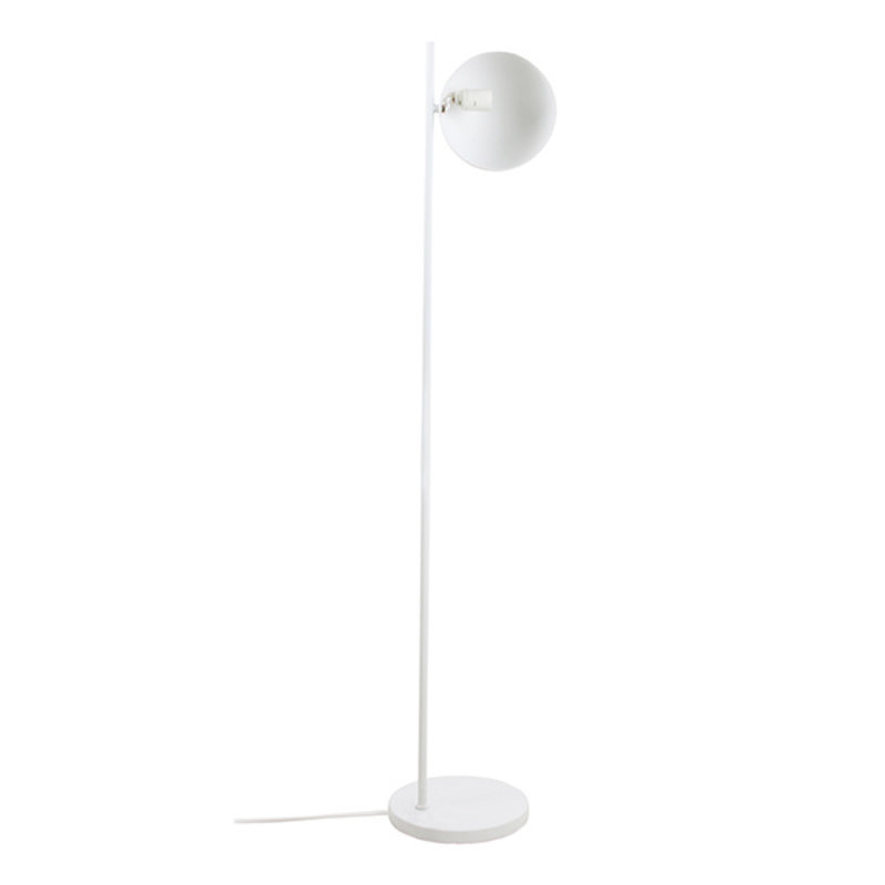 HK living-collectie metal floor lamp ball shade matt white