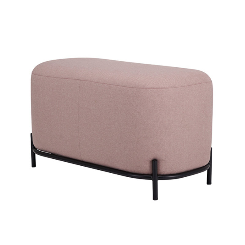 HKliving-collectie pouf 80cm old pink