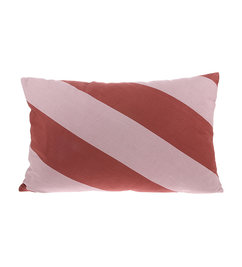 HK living-collectie twill weave cushion striped red (40x60)
