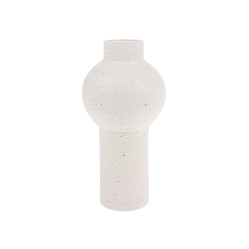 HKliving-collectie speckled clay vase round M