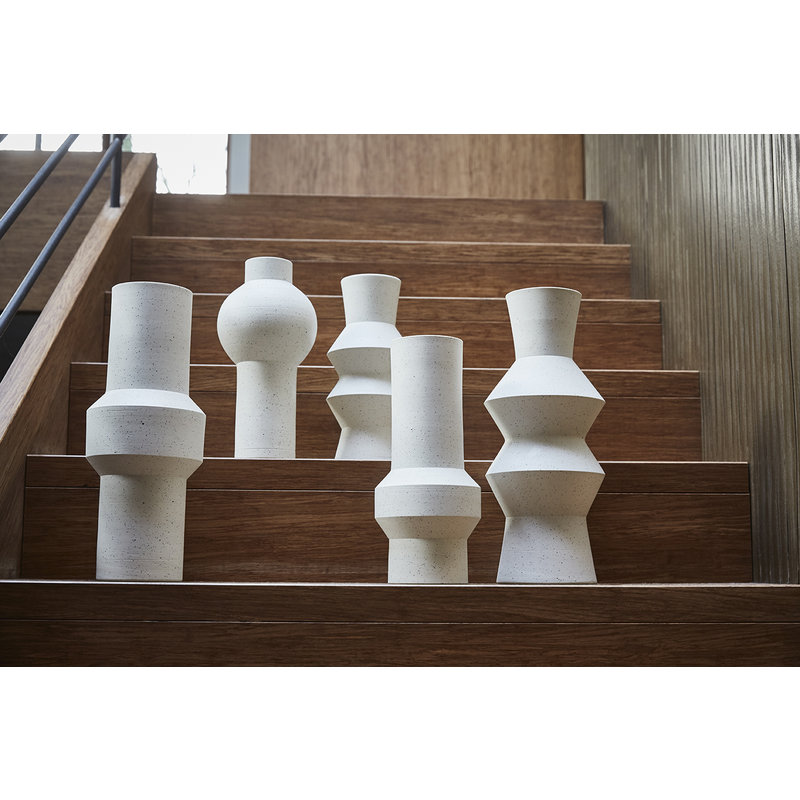 HK living-collectie speckled clay vase straight M