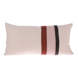 HKliving linen striped cushion A (70x35)