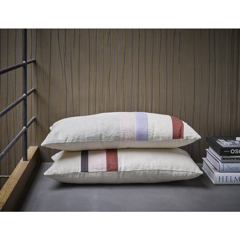 HK living-collectie linen striped cushion A (70x35)