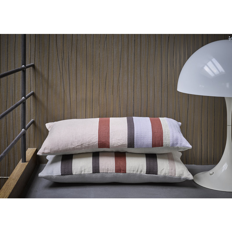 HK living-collectie linen striped cushion C (70x35)