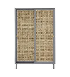 HK living-collectie webbing sliding door cabinet grey