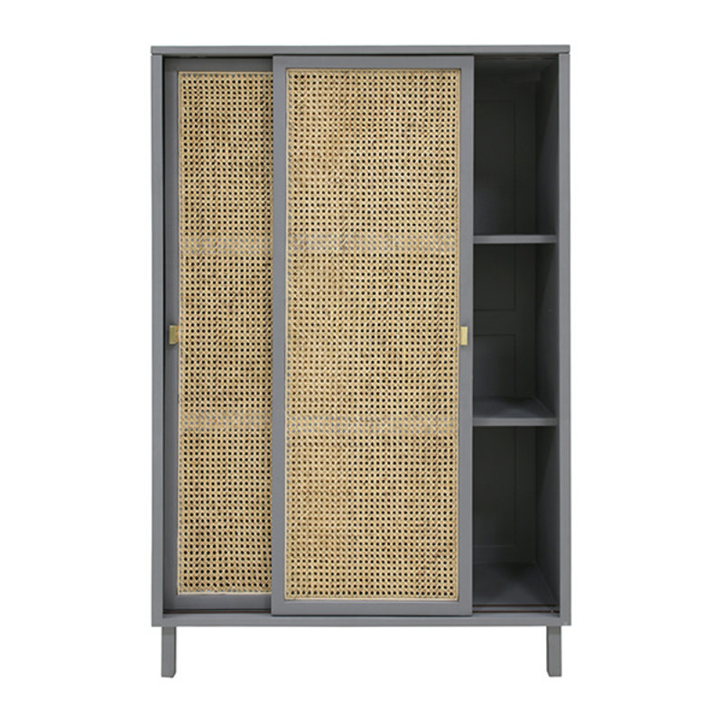 HKliving-collectie webbing sliding door cabinet grey