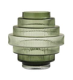 Nordal-collectie RILL vaas, groen, doorzichtig groen, M