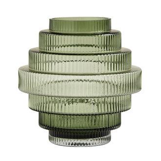 Nordal RILL vaas, groen, doorzichtig groen, M