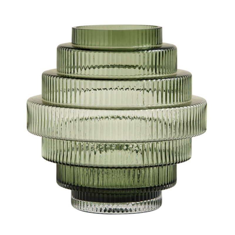 Nordal-collectie RILL vase, glass, clear green, M