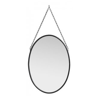 Nordal Downtown mirror, oval, black