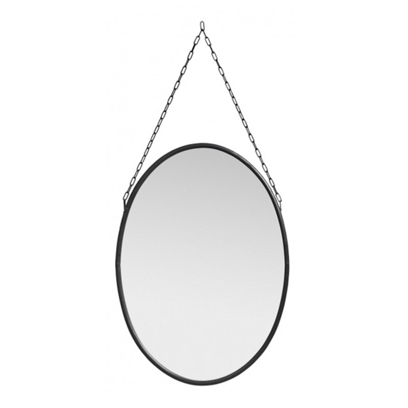 Nordal-collectie Downtown mirror, oval, black