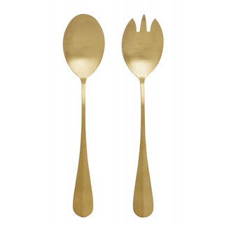 Nordal GOLD salad cutlery, s/2