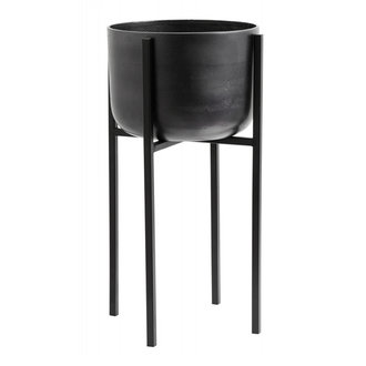 Nordal Planter on stand, medium, black oxidized