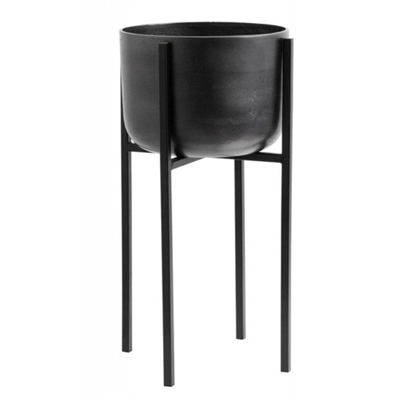 Nordal-collectie Planter on stand, medium, black oxidized